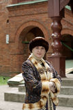 Frau in der historischen Kleidung Stockfoto
