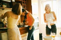 Frau in der Küche Lizenzfreie Stockbilder