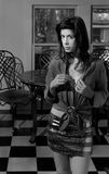 Frau in der Küche Stockfoto