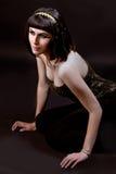 Frau in der Kleopatra-Art Stockfoto