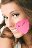 Frau in der Liebe Stockbilder