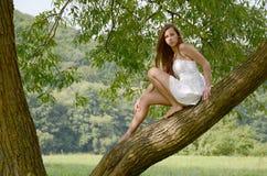 Frau in der Natur Lizenzfreie Stockbilder