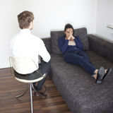 Frau an der Psychoanalyse Stockfotografie