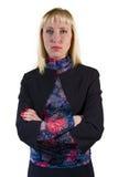 Frau in der schwarzen Jacke Lizenzfreie Stockbilder