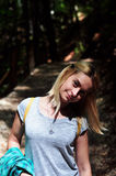 Frau in der Sonne Stockfotografie