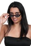 Frau in der Sonnenbrille Stockbild