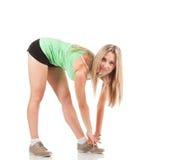 Frau in der Sportkleidung Lizenzfreies Stockbild