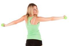 Frau in der Sportkleidung Lizenzfreie Stockbilder