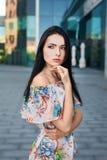 Frau in der Straße Stockbilder