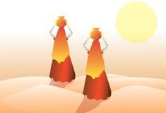 Frau in der Wüste Lizenzfreies Stockfoto