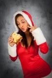 Frau in der Weihnachtszeit Stockfoto