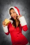 Frau in der Weihnachtszeit Lizenzfreie Stockfotografie