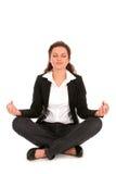 Frau in der Yoga-Haltung Stockbild