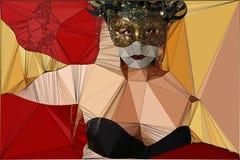 Frau des geometrischen Designs in einer Maske vektor abbildung