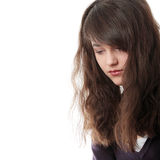 Frau des jungen jugendlich mit Tiefstand Lizenzfreie Stockfotos