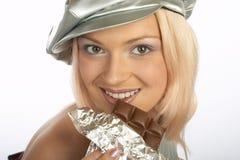 Frau des süßen Zahnes lizenzfreies stockfoto