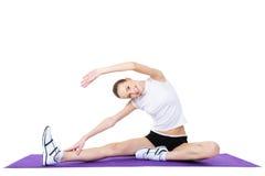 Frau, die aerobe Übungen tut Stockbilder