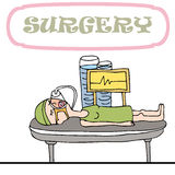 Frau, die Chirurgie hat Stockbild