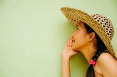 Frau, die ein Geheimnis erklärt Lizenzfreie Stockfotos