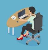 Frau, die an einem Laptop arbeitet Lizenzfreie Stockfotos