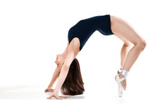 Frau, die einen Tanz durchführt lizenzfreies stockfoto