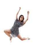 Frau, die einen Tanz durchführt stockbild