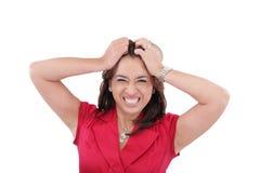 Frau entsetzt und verärgert lizenzfreie stockbilder