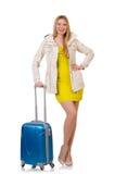 Frau, die für Ferien sich vorbereitet Lizenzfreies Stockbild