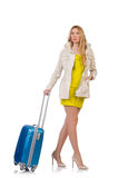 Frau, die für Ferien sich vorbereitet Lizenzfreie Stockfotos