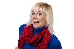 Frau, die Gesichter macht Stockfotografie