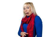 Frau, die Gesichter macht Lizenzfreie Stockfotos