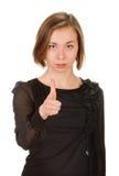 Frau, die ihren Finger auf Sie zeigt Lizenzfreie Stockbilder