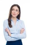 Frau, die oben schaut Lizenzfreie Stockfotografie