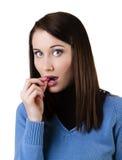 Frau, die Pille einnimmt Lizenzfreie Stockfotos