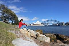 Frau, die Sydney New South Wales Australia besucht Lizenzfreie Stockfotos