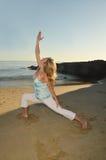 Abend-Yoga Stockfoto