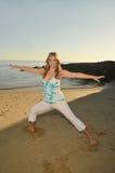 Abend-Yoga Stockbilder