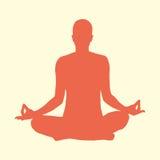 Frau, die Yoga tut Stockbild
