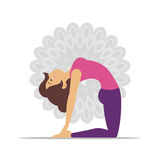Frau, die Yoga tut vektor abbildung