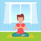 Frau, die Yoga tut Lizenzfreie Stockbilder