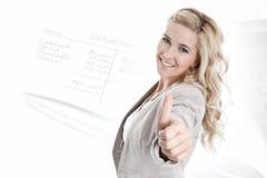 Frau, die zur Zukunft schaut Lizenzfreie Stockfotografie