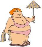 Frau in einem Bikini lizenzfreie abbildung