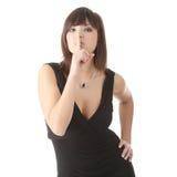 Frau in einem eleganten Abendkleid Lizenzfreies Stockbild