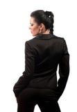 Frau in einem Kleid lizenzfreie stockfotos