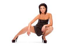 Frau in einem Kleid Stockbild
