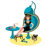 Frau in einem Schönheitssalon Stockbild