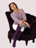 Frau in einem Stuhl stockbilder