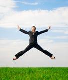 Frau in einer fröhlichen Stimmung Lizenzfreies Stockfoto