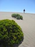 Frau in einer Wüste Lizenzfreie Stockfotografie