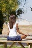 Frau entspannen sich Stockbild